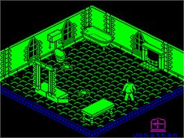 In game image of Nosferatu the Vampyre on the Sinclair ZX Spectrum.