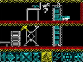 In game image of Obliterator on the Sinclair ZX Spectrum.