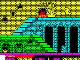 In game image of Olli & Lissa: The Ghost of Shilmore Castle on the Sinclair ZX Spectrum.