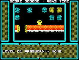 In game image of One Man and His Droid on the Sinclair ZX Spectrum.