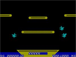 In game image of Ostron on the Sinclair ZX Spectrum.