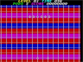 In game image of P.O.D.: Proof of Destruction on the Sinclair ZX Spectrum.