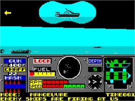 In game image of PHM Pegasus on the Sinclair ZX Spectrum.