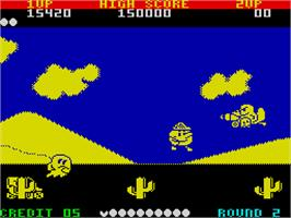 In game image of Pac-Land on the Sinclair ZX Spectrum.