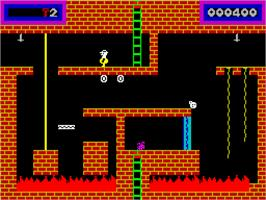 In game image of Panama Joe on the Sinclair ZX Spectrum.