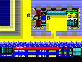 In game image of Panzadrome on the Sinclair ZX Spectrum.