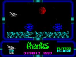 In game image of Phantis on the Sinclair ZX Spectrum.