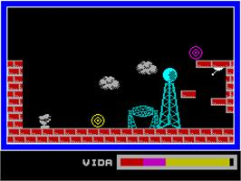 In game image of Phantomas on the Sinclair ZX Spectrum.