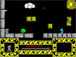 In game image of Phantomas 2 on the Sinclair ZX Spectrum.