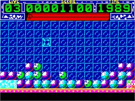 In game image of Pick 'n Pile on the Sinclair ZX Spectrum.