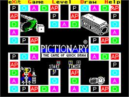 In game image of Pictionary on the Sinclair ZX Spectrum.