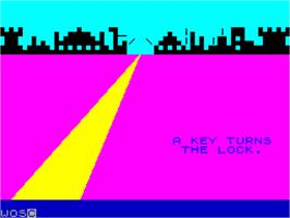 In game image of Pimania on the Sinclair ZX Spectrum.