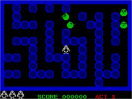 In game image of Ping Pong on the Sinclair ZX Spectrum.