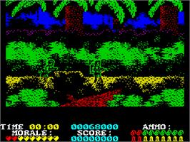 In game image of Platoon on the Sinclair ZX Spectrum.