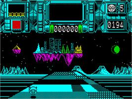 In game image of Plexar on the Sinclair ZX Spectrum.