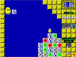 In game image of Plotting on the Sinclair ZX Spectrum.