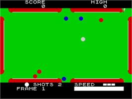 In game image of Pool on the Sinclair ZX Spectrum.