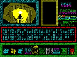 In game image of Post Mortem on the Sinclair ZX Spectrum.