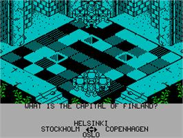 In game image of Powerplay: The Game of the Gods on the Sinclair ZX Spectrum.