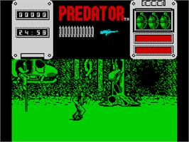 In game image of Predator on the Sinclair ZX Spectrum.