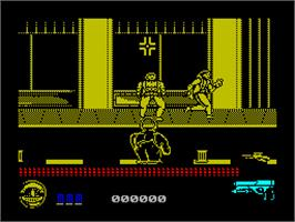In game image of Predator 2 on the Sinclair ZX Spectrum.