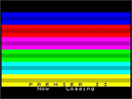 In game image of Premier 2: Superleague on the Sinclair ZX Spectrum.