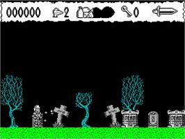 In game image of Prince Clumsy on the Sinclair ZX Spectrum.