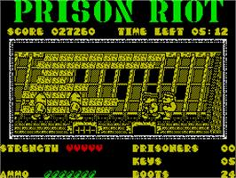 In game image of Prison Riot on the Sinclair ZX Spectrum.