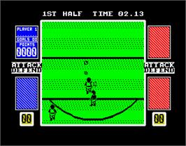 In game image of Pro Skateboard Simulator on the Sinclair ZX Spectrum.
