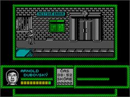 In game image of Prvá Akcia on the Sinclair ZX Spectrum.