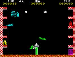 In game image of Pssst on the Sinclair ZX Spectrum.