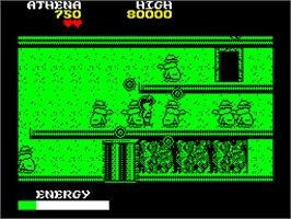 In game image of Psycho Soldier on the Sinclair ZX Spectrum.