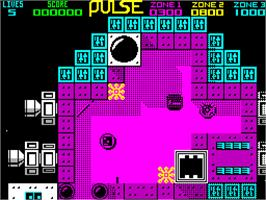 In game image of Pulse Warrior on the Sinclair ZX Spectrum.