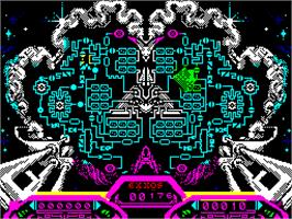 In game image of Purple Saturn Day on the Sinclair ZX Spectrum.