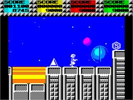 In game image of Quartet on the Sinclair ZX Spectrum.