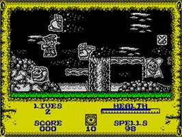In game image of Quattro Cartoon on the Sinclair ZX Spectrum.