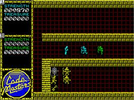 In game image of Quattro Combat on the Sinclair ZX Spectrum.