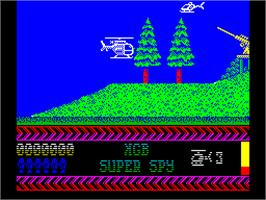 In game image of Quattro Super Hits on the Sinclair ZX Spectrum.