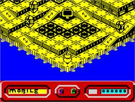 In game image of Quazatron on the Sinclair ZX Spectrum.