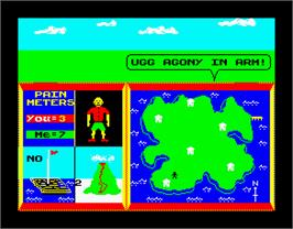 In game image of Rainbow Islands on the Sinclair ZX Spectrum.