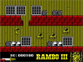 In game image of Rambo III on the Sinclair ZX Spectrum.