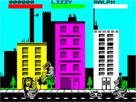In game image of Rampage on the Sinclair ZX Spectrum.