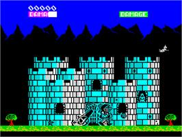 In game image of Ramparts on the Sinclair ZX Spectrum.