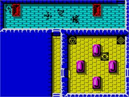 In game image of Rana Rama on the Sinclair ZX Spectrum.