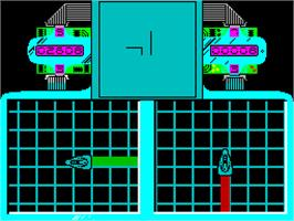 In game image of Raster Runner on the Sinclair ZX Spectrum.