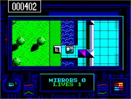 In game image of Rebel on the Sinclair ZX Spectrum.
