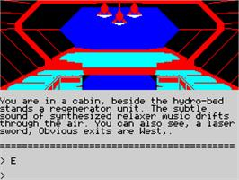 In game image of Rebel Planet on the Sinclair ZX Spectrum.