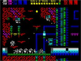 In game image of Rex on the Sinclair ZX Spectrum.