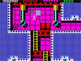 In game image of Rick Dangerous II on the Sinclair ZX Spectrum.
