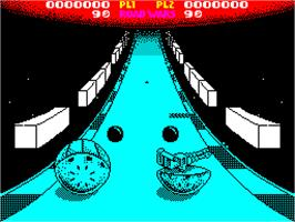 In game image of Roadwars on the Sinclair ZX Spectrum.